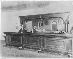 Old Time Photo Inside of Corral Bar