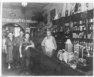 Old Time Photo of Corral Bar