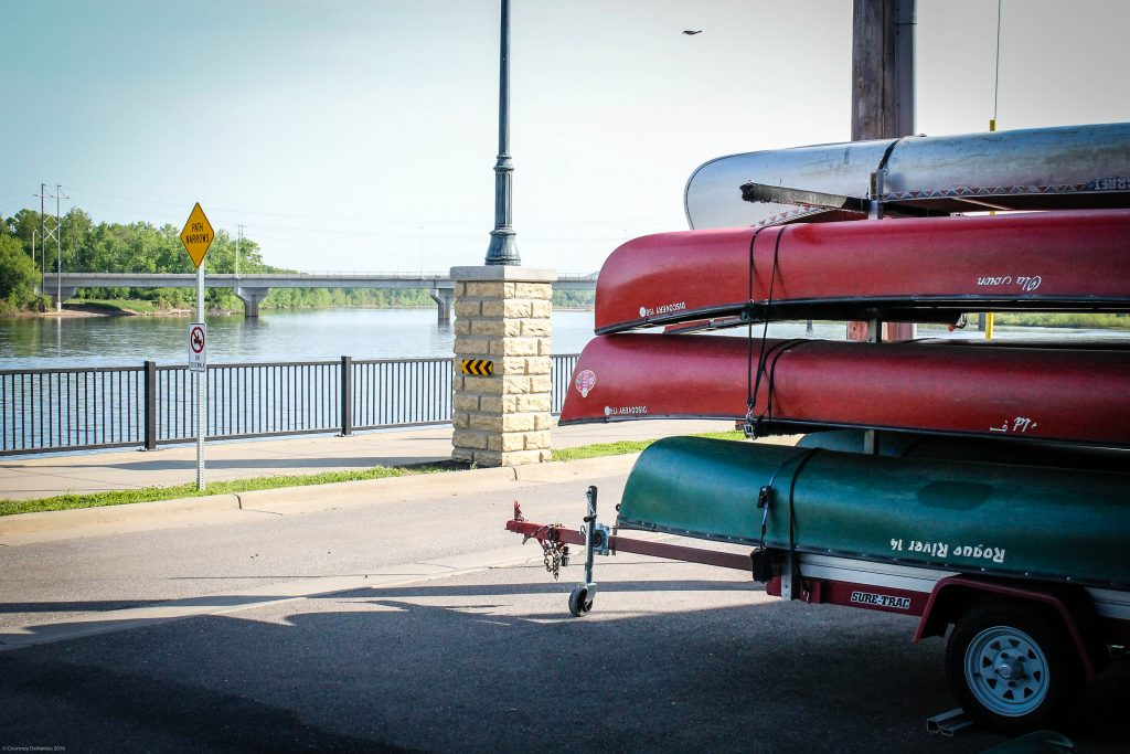 Canoes on the Chippewa River